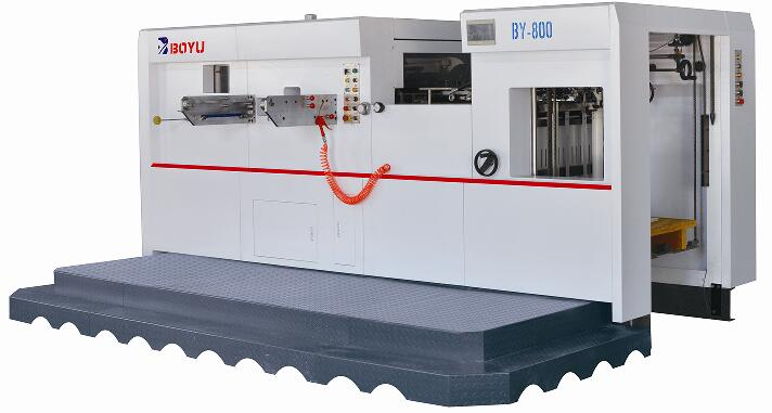 BY-800 automatic diecutting and creasing machine